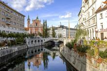 Ljubljana, Fluss Ljubljanica, ...