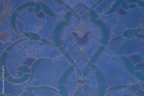window mosaic on the glass of a mosque in sharm el sheikh wing plan Canvas-taulu