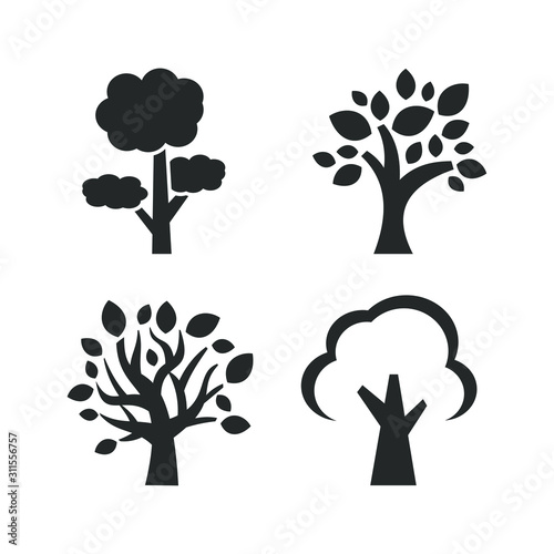 Tree icon template color editable. Tree symbol vector sign isolated on white background illustration for graphic and web design.