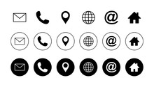 Web Icon Set. Contact Us Icons...