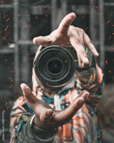 The lens Fototapet