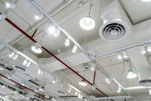 Bare Ceiling With Air Duct, CC...