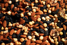 Nuts Background With Almonds H...