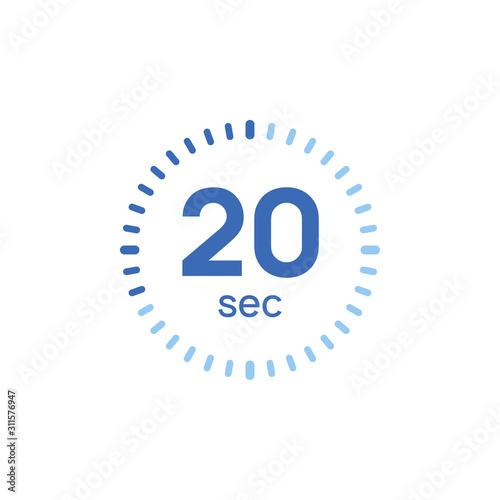 Fototapeta 20 second timer clock