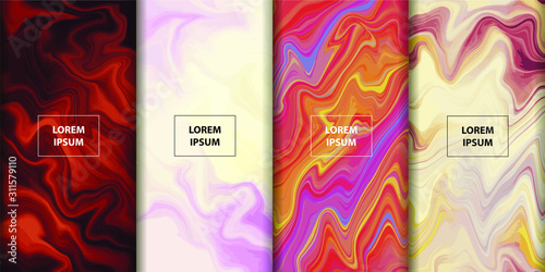 Colorful Fluid art background Wallpaper Mural