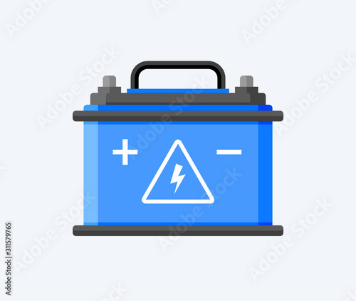 Photo Car battery flat icon