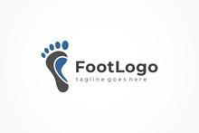 Abstract Foot Logo. Flat Vector Logo Design Template Element