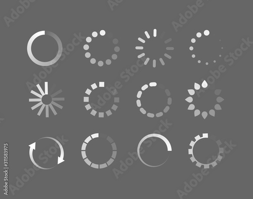 Leinwand Poster Loader icon vector circle button