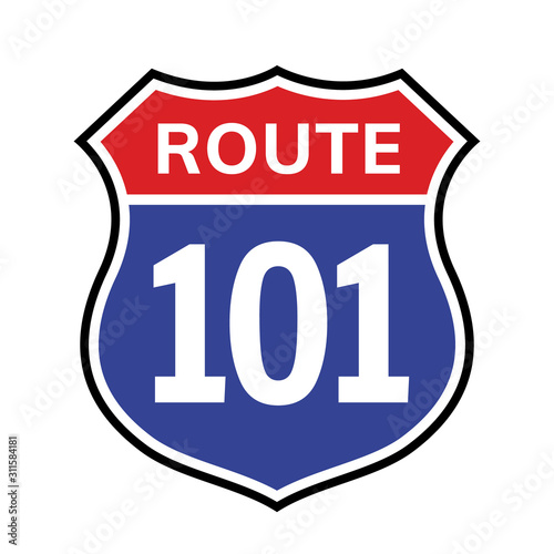 Photo 101 route sign icon