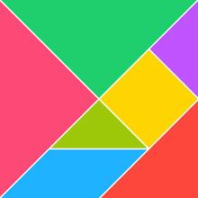 Tangram Puzzle Square Set. Vec...