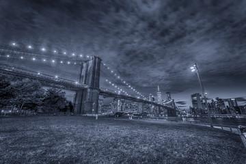 Brooklyn Bridge, night view Brooklyn, NYC.