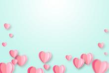 Happy Valentines Day Concept Background.
