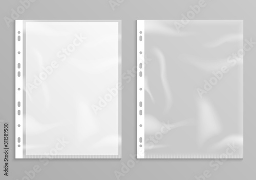 Leinwand Poster  Sheet plastic protector, clear folder file