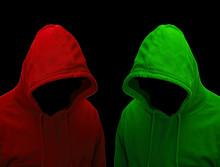 Gefährliche Hacker Mit Kapuze...