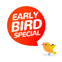 Early Bird Discount Vector Spe...