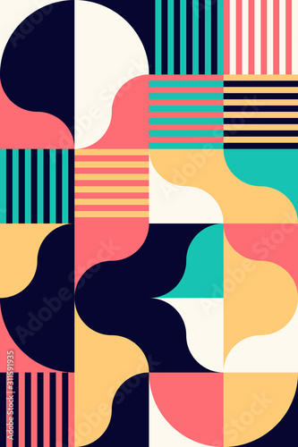 Colorful Geometry Vector Pattern
