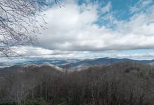 Panorama Over Looking A Mountain Scene In Georgia