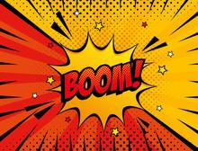 Explosion Boom Pop Art Style I...