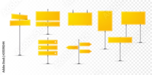 Cuadros en Lienzo Street road yellow sign icon