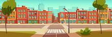 Urban Street Landscape With Cr...