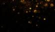 Golden particles background