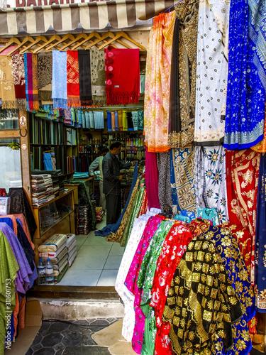 Fototapeta Dubai, Bur Dubai, Textil Souk, Textilmarkt, Vereinigte Arabische