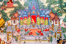 Ancient Thai Painting On Wall ...