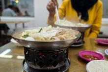 Pork Intestine Stinky Hot Pot