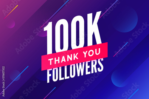 Valokuvatapetti 100000 followers vector