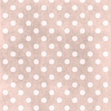 Coral And Pink Polka Dot Seaml...