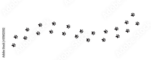 fototapeta na drzwi i meble Dog or cat paw. Prints vector illustration