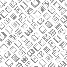 Books Related Seamless Pattern...