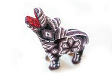 Traditional Huichol Zebra Bead Ornament Figures Mexican Culture