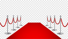 Red Carpet And Golden Barriers...