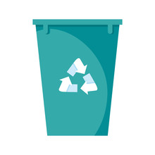 Recycle Bin Pot Isolated Icon