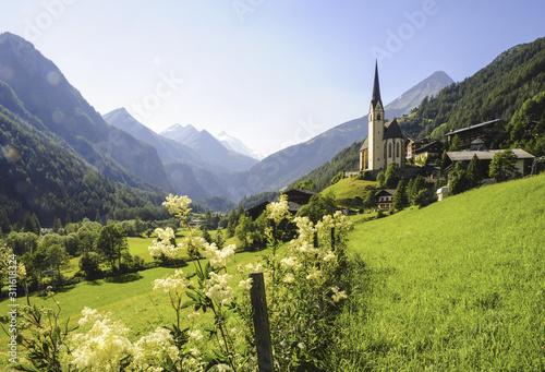 Fotografie, Obraz Heiligenblut, Österreich, Kärnten, Grossglockner