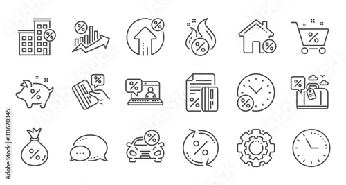 Fotomural Loan line icons