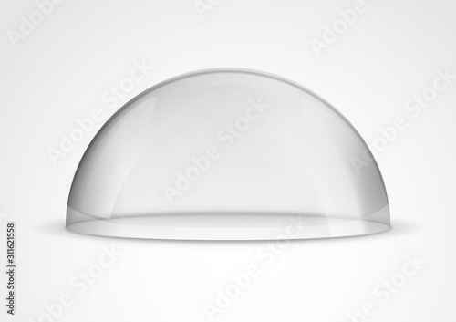Leinwand Poster Glass dome container mock-up