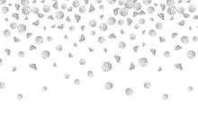 Falling Diamond Background Vector Gem On White. Jewelry Luxury Pattern Backdrop Isolated Crystal Stone