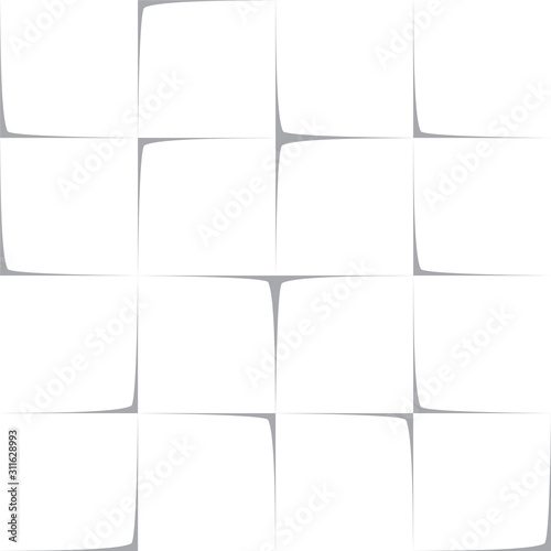 Fototapeta Note Paper Unstuck Pieces Square Blank Editable Seamless Text Decoration Template 4 to 4 Ratio - Gray on White Background - Contrast Graphic Design obraz na płótnie