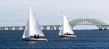 Two Two Person Sailboats Saili...