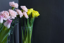 Glass Vases With Tulips, Carna...