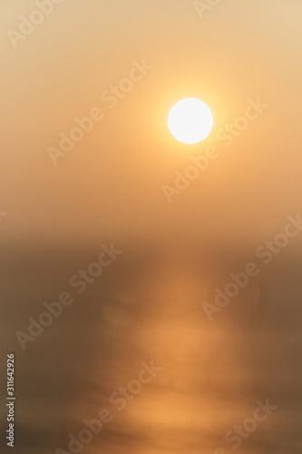 Obraz na plátně  Blurred Stunning sunset at the sea in India. Arambol, GOA