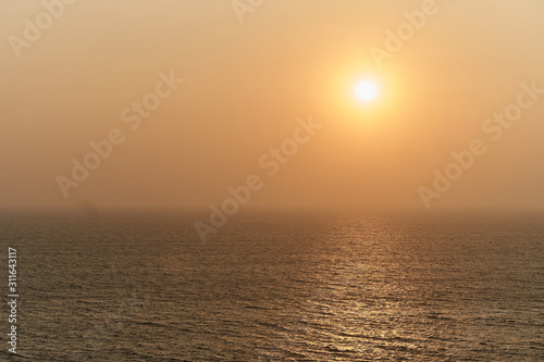 Fototapeta  Stunning sunset at the sea in India. Arambol, GOA