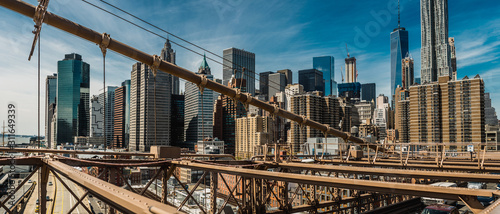 Fototapeta brooklyn bridge in new york city obraz