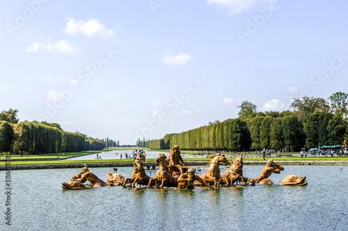 Paris, Schloss Versailles, Apollo Brunnen, Frankreich, Versaille Canvas Print