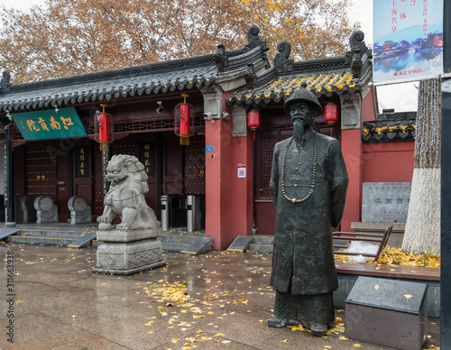 Obraz na plátne Bronze statue of Lin Zexu, Chinese scholar-official of Qing dynasty known for hi