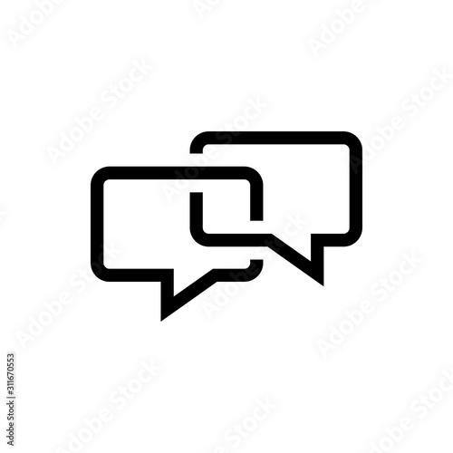 Fototapeta bubble speech icon obraz