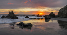 Sunset At El Matador Beach