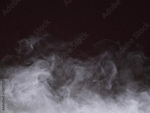 Fototapety, obrazy: smoke white group on black background